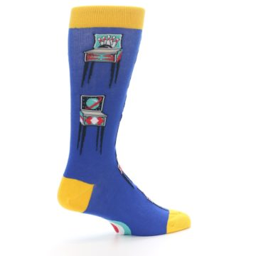 Image of Blue Pinball Machine Men's Dress Socks (side-1-23)