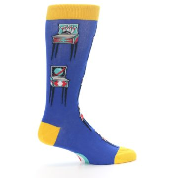 Image of Blue Pinball Machine Men's Dress Socks (side-1-24)