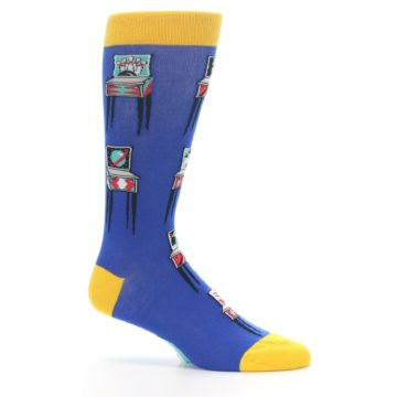 Image of Blue Pinball Machine Men's Dress Socks (side-1-25)