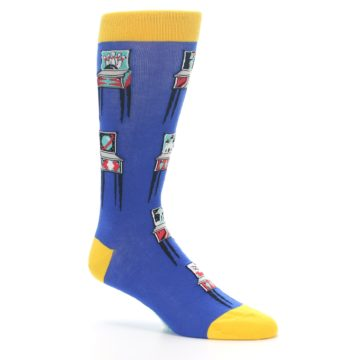 Image of Blue Pinball Machine Men's Dress Socks (side-1-26)