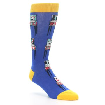 Image of Blue Pinball Machine Men's Dress Socks (side-1-27)