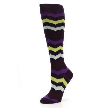 Image of Purples Chevron Women's Knee High Socks (side-2-10)