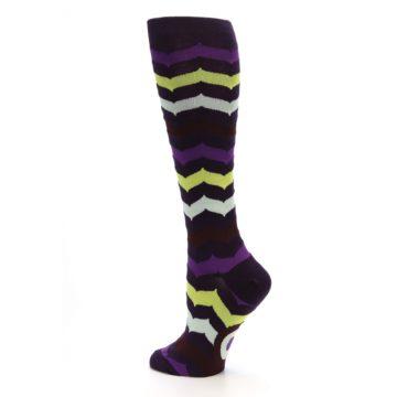 Image of Purples Chevron Women's Knee High Socks (side-2-back-14)