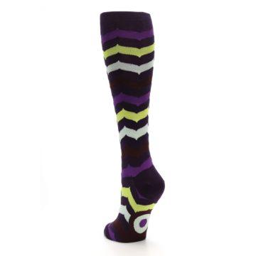 Image of Purples Chevron Women's Knee High Socks (side-2-back-16)