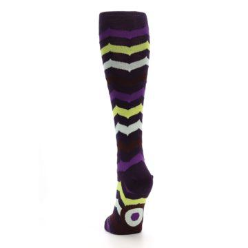 Image of Purples Chevron Women's Knee High Socks (back-17)