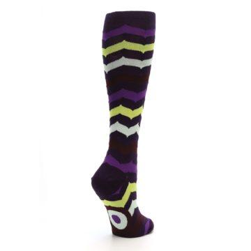 Image of Purples Chevron Women's Knee High Socks (side-1-back-22)
