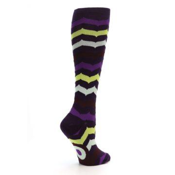Image of Purples Chevron Women's Knee High Socks (side-1-23)