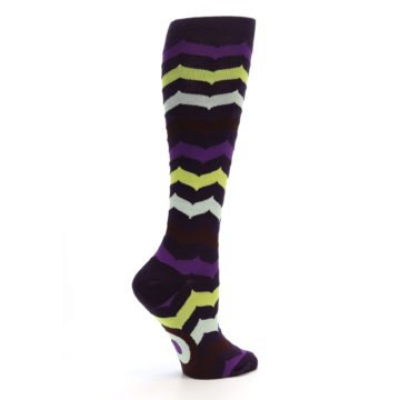 Image of Purples Chevron Women's Knee High Socks (side-1-24)