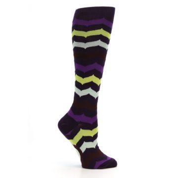 Image of Purples Chevron Women's Knee High Socks (side-1-25)