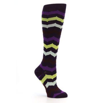 Image of Purples Chevron Women's Knee High Socks (side-1-26)