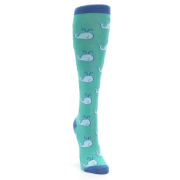 Image of Blue Whales Women's Knee High Socks (side-1-front-03)