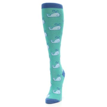 Image of Blue Whales Women's Knee High Socks (side-2-front-07)