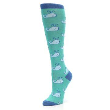 Image of Blue Whales Women's Knee High Socks (side-2-09)