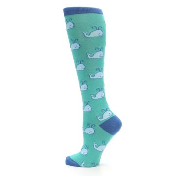 Image of Blue Whales Women's Knee High Socks (side-2-13)