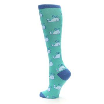Image of Blue Whales Women's Knee High Socks (side-2-back-14)