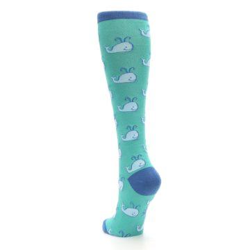 Image of Blue Whales Women's Knee High Socks (side-2-back-16)