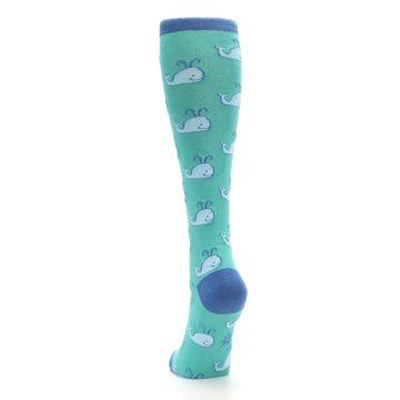 Image of Blue Whales Women's Knee High Socks (back-17)