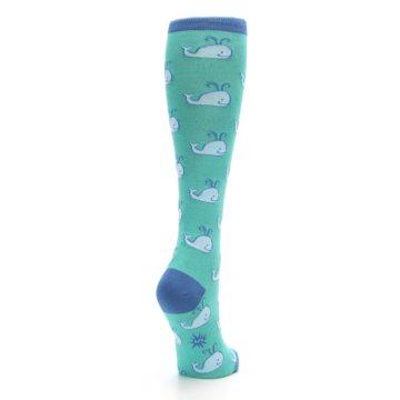 Image of Blue Whales Women's Knee High Socks (side-1-back-21)