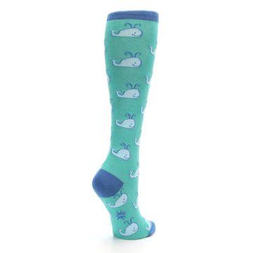 Image of Blue Whales Women's Knee High Socks (side-1-back-22)
