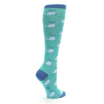Image of Blue Whales Women's Knee High Socks (side-1-23)