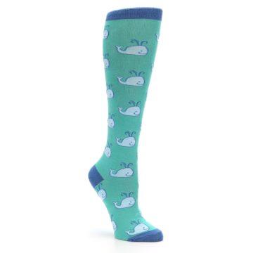 Image of Blue Whales Women's Knee High Socks (side-1-27)