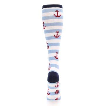 Image of Blue White Red Anchors Women's Knee High Socks (back-19)
