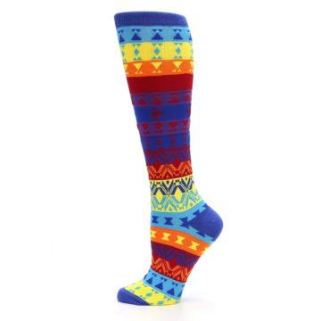 Image of Multi-Color Kaleidoscope Women's Knee High Socks (side-2-12)