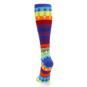 Image of Multi-Color Kaleidoscope Women's Knee High Socks (back-17)