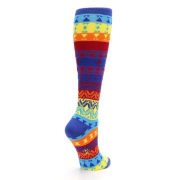 Image of Multi-Color Kaleidoscope Women's Knee High Socks (side-1-back-22)