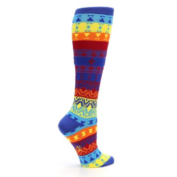 Image of Multi-Color Kaleidoscope Women's Knee High Socks (side-1-24)