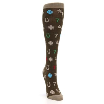 Image of Brown Good Luck Charm Women's Knee High Socks (side-1-front-03)
