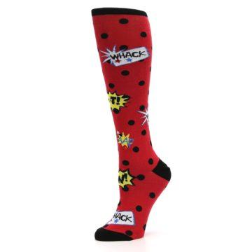 Image of Red Blamo! Women's Knee High Socks (side-2-10)