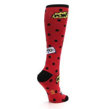 Image of Red Blamo! Women's Knee High Socks (side-1-23)