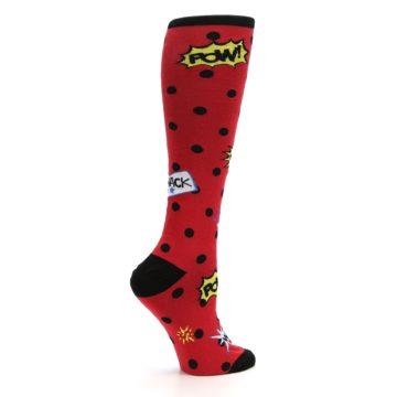 Image of Red Blamo! Women's Knee High Socks (side-1-24)