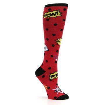 Image of Red Blamo! Women's Knee High Socks (side-1-26)