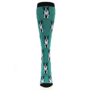 Image of Green Boston Terrier Women's Knee High Socks (front-05)