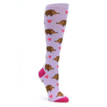 Hedgehog Hearts Knee Socks