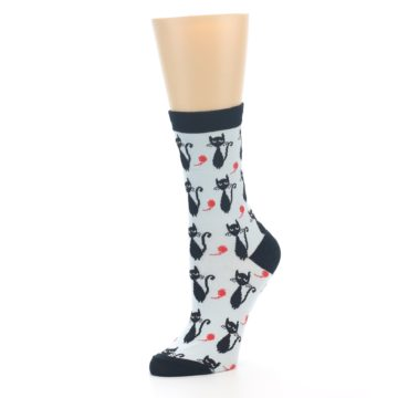 Image of Black Cats Women's Dress Socks (side-2-09)