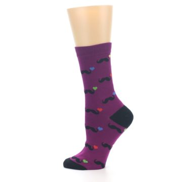 Image of Purple Mustache Women's Dress Socks (side-2-12)
