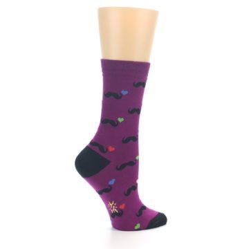 Image of Purple Mustache Women's Dress Socks (side-1-24)