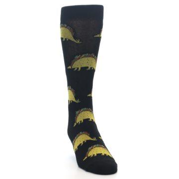 Image of Black Tacosaurus Men's Dress Socks (side-1-front-03)