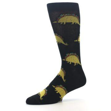 Image of Black Tacosaurus Men's Dress Socks (side-2-10)