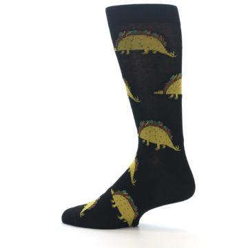 Image of Black Tacosaurus Men's Dress Socks (side-2-13)