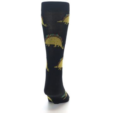 Image of Black Tacosaurus Men's Dress Socks (back-19)