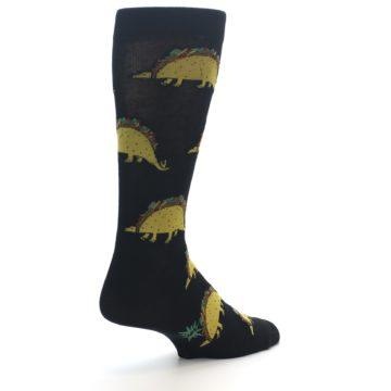 Image of Black Tacosaurus Men's Dress Socks (side-1-back-22)