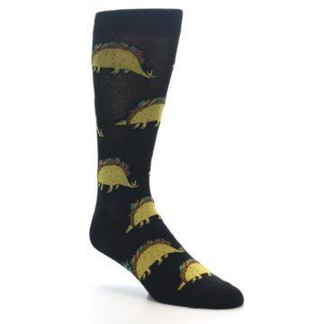Image of Black Tacosaurus Men's Dress Socks (side-1-27)