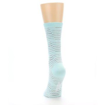 Image of Mint Grey Stripe Women's Dress Socks (back-17)