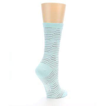 Image of Mint Grey Stripe Women's Dress Socks (side-1-back-22)