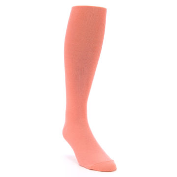 Image of Coral Solid Men's Over-the-Calf Dress Socks (side-1-front-02)