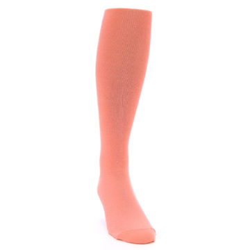 Image of Coral Solid Men's Over-the-Calf Dress Socks (side-1-front-03)